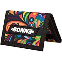 """BONNE ('bone') Graphic Art Trifold Wallet with Zippered Coin Pocket - Sports Outdoor Gear, Water Resistant Anti-Tear Material -""""Exuberance"""""""