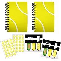 テニス アートクリップ2セット+作戦ノート【A6サイズ】2冊+シール2枚 プライム