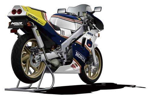 青島文化教材社 1/12 ネイキッドバイクシリーズNo.104 Honda '88 NSR250R SP カスタムパーツ付き