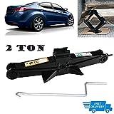 Best 米国車のジャッキ - Scissorジャック2Ton WithクランクハンドルRustproof車スタビライザーLift for Hyundai Sonata / Elentra / Review
