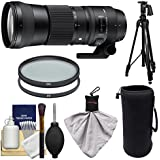 Sigma 150–600mm F / 5.0–6.3DG OS HSM Contemporaryズームレンズfor Nikon DSLR Cameras with Pistol Grip Tripod + UV & CPLフィルタ+ポーチ+キット