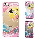 iPhone SE iPhone5S/5 対応 ハード クリア ケース カバー シェル ジャケット 保護フィルム付 Young mermaid 1