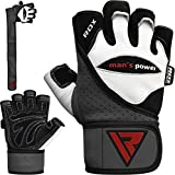 RDX Weight Lifting Gloves Gym Crossfit Workout Powerlifting Fitness Bodybuilding Leather Breathable Strength Training Wrist Support Exercise