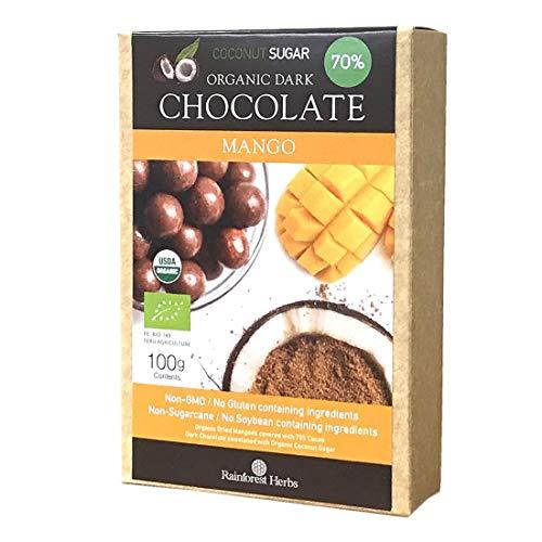 マンゴーチョコレートボール ペルー産カカオ70% ココナッツシュガー 100g 1個 チョコボール ダークチョコレート
