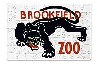 Brookfield動物園ポスター–Brookfield , Il–パンサー( 8x 12プレミアムアクリルパズル63ピース)