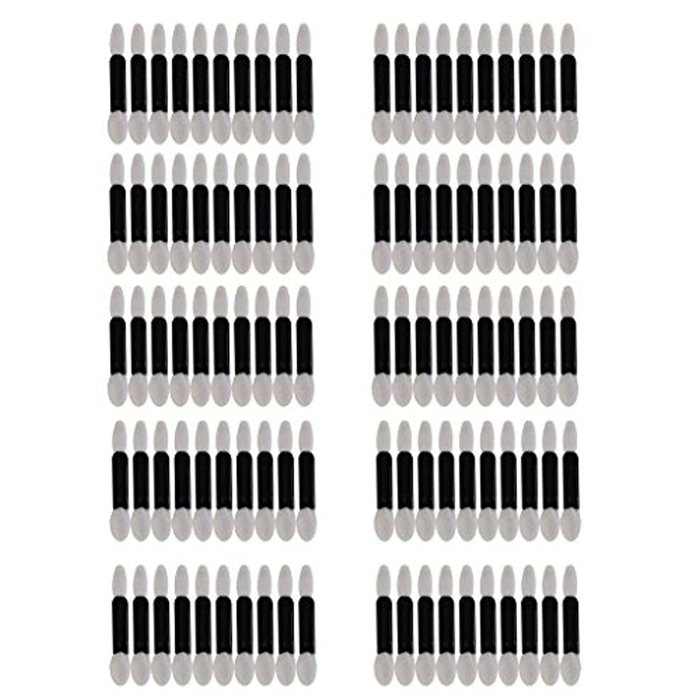 利益反射Baosity 約100本 使い捨て ダブル エンド スポンジ メイクブラシ アイ シャドー リップ アプリケータ ツール セット