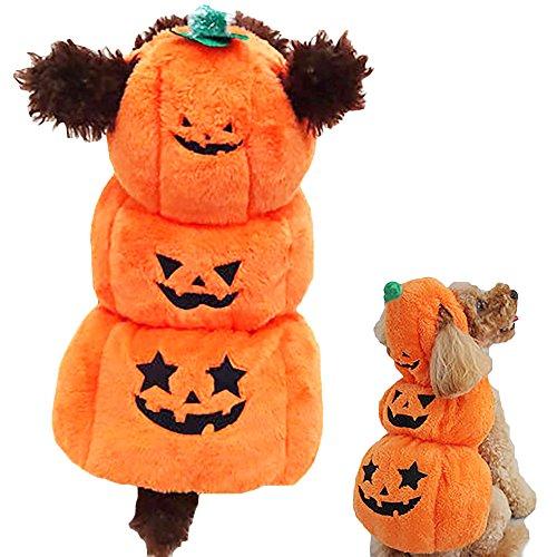 OHMI ペット服 犬用 ハロウィン コスプレ かぼちゃ 衣装 コスチューム 小型犬 ~ 中型犬 サイズ (S)
