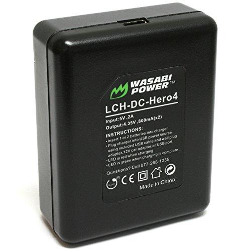 『GoPro HERO4専用 バッテリー2ケ+充電キット デュアルUSBチャージャー USBケーブル プラグ カーチャージャー WASABI POWER【並行輸入品】 GoPro HERO4, GoPro AHDBT-401, AHBBP-401』の5枚目の画像