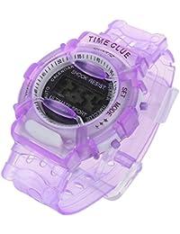 学生腕時計 – TOOGOO ( R ) Boys Girls子供学生防水デジタル手首スポーツ時計パープル