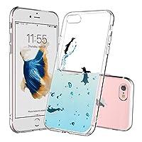 iphone6 ケース 人気、UCMDA 高品質 TPU 透明 シリコン おしゃれ カバー【超軽量 衝撃吸収 傷防止 保護】iPhone 6S / 6 バンパー ケース (3つのペンギン)