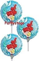 """10アリエルLittle Mermaidバルーン誕生日パーティー9"""" Mini形状Favors Decorationsヒラメ"""