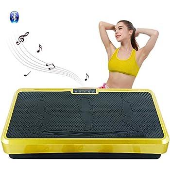 振動マシン フィットネスマシン 振動ステッパー スマート 振動調節 99段階 脂肪燃焼 全身振動 体幹強化 マシンBluetooth 音楽機能 PSE認証済 (イエロー 2)