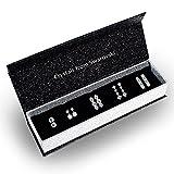 R-timer (アールタイマー)スワロフスキー エレメント ピアス 18K ホワイトゴールドメッキ ピアス レディース 人気 フープ 5ペアセット クリスマスプレゼント アクセサリー ボックス付き