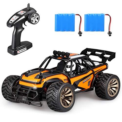 ラジコンカー,ラジコン 車,ラジコン オフロード,1/16 2.4GHz無線レース用オフロード,USB充電式,高速20KM/H,耐衝撃,6歳以上の子供のための完璧な贈り物 (オレンジ)