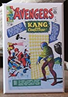 The Avengers # 8–冷蔵庫/ロッカーマグネット。Kang the Conqueror 。