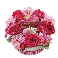 花由 プリザーブド フラワーケーキ ホールタイプ 7.ラズベリー フラワーギフト プリザーブドフラワー ブリザードフラワー 誕生日プレゼント 女性 結婚祝い お祝い 花