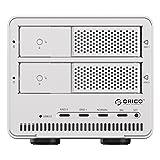 オリコ ORICO 2ビット 3.5インチ HDDストレージベイ RAIDモード USB3.0 SATA3 シルバー 9528RU3-SV
