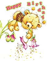 Happy Birthday: Discreet Internet Website Password Journal or Organizer, Cute Teddy Bear Themed Birthday Gifts or Presents for Girls, Teens, Kids, Women, Mom, Grandma, Wife, Girlfriend, Daughter, Granddaughter, Best Friend, Co-Worker, Large Print Book, Size 8 1/2 X 11
