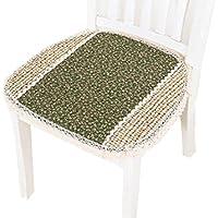 椅子クッション イス座布団 スツールカバー 椅子用 座面カバー  チェアカバー パソコンチェアクッション  事務椅子クッション 快適 45*45cm(グリーン)