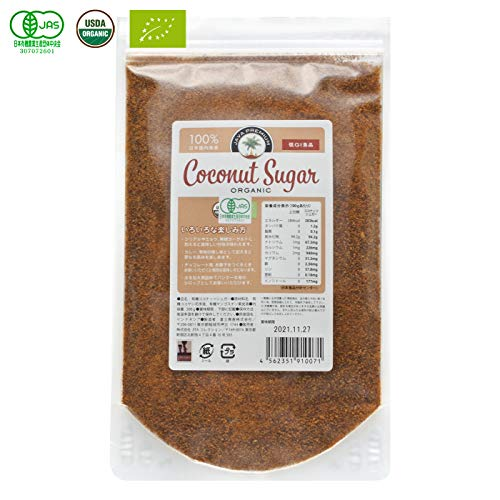 オーガニック ココナッツシュガー 低GI食品 300g (1袋)