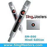 SingMasters Magic Sing Hindi Karaoke Player,4025 Hindi Songs,13000 English Songs,Dual Wireless Microphones,YouTube Compatible,HDMI,Song Recording,Karaoke Machine