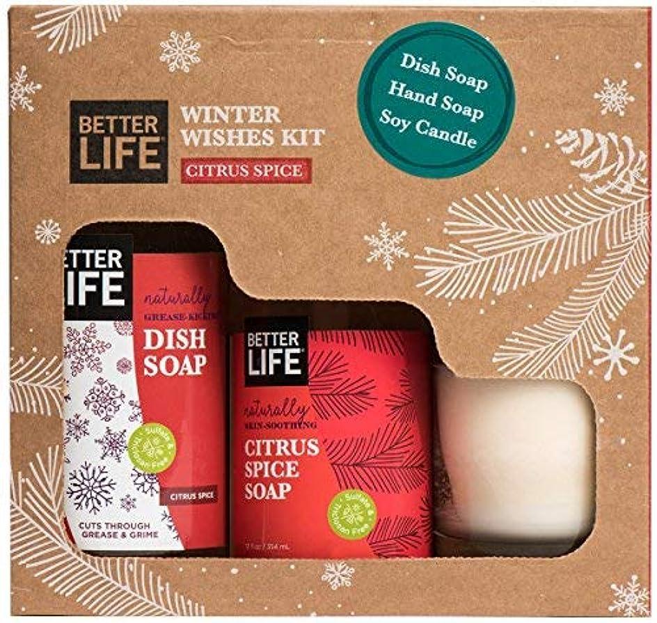チャレンジ方言リスキーなBetter Life Natural Holiday Gift Pack Citrus Scented Candle Hand Soap Dish Soap 24322 [並行輸入品]