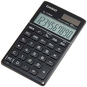 カシオ デザイン電卓 手帳タイプ 10桁 SL-Z1000BK-N プレミアムブラック