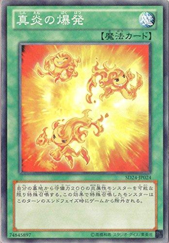 遊戯王 SD24-JP024-N 《真炎の爆発》