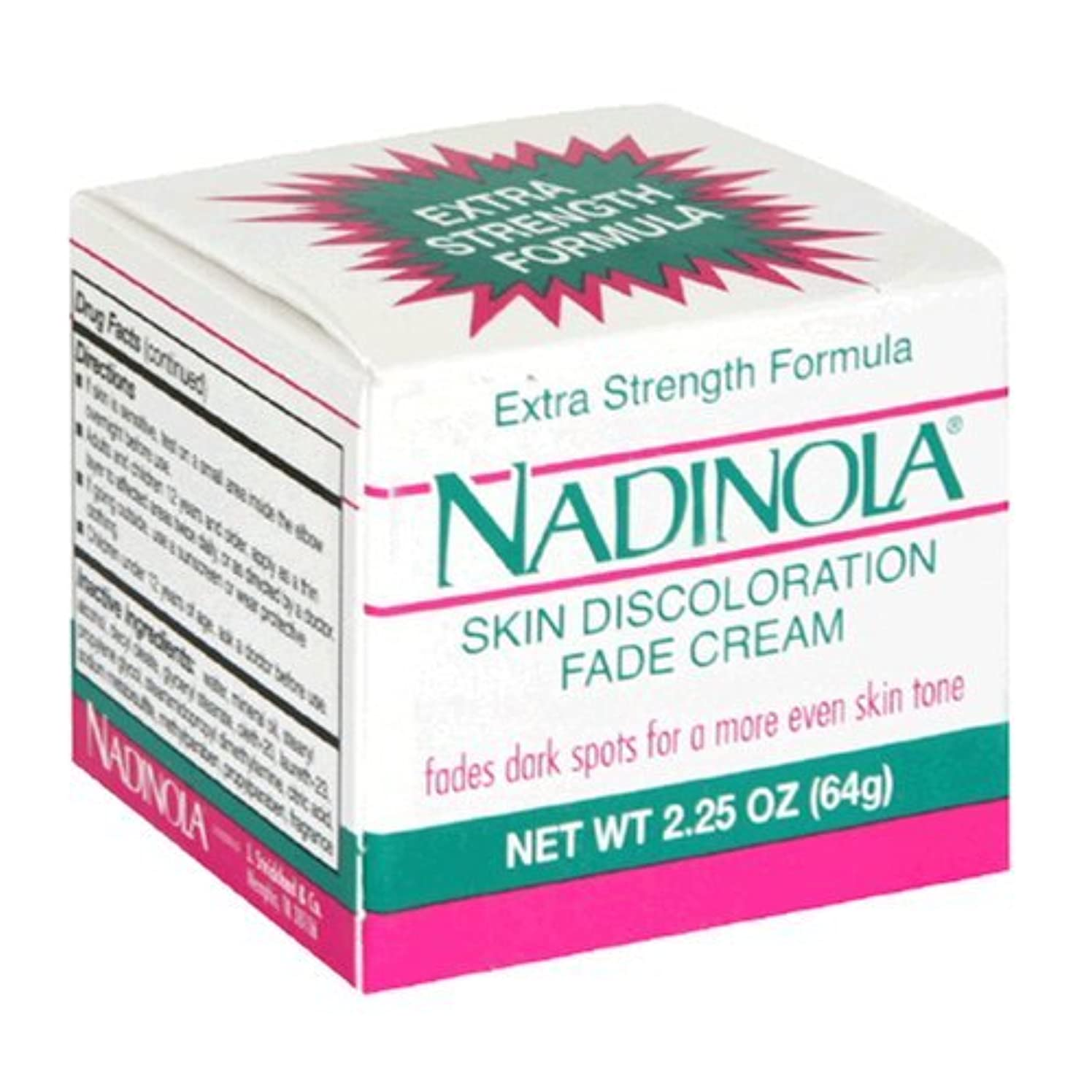 半球師匠後ろ、背後、背面(部Nadinola Discoloration Fade Cream 2.25oz Extra Strength (並行輸入品)