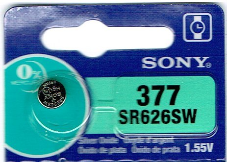 SONY 377 (1個) SR626SW 日本製 腕時計用無酸化銀ボタン電池 海外向けパッケージ...