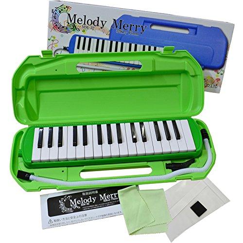 Melody Merry MM-32 GREEN グリーン  メロディーメリー 鍵盤ハーモニカ 32鍵 カラーパッケージ入り