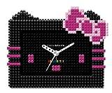 [ナノブロック]nanoblock Hello Kitty (ハローキティ) コラボ 目覚まし時計 デコれる アラームクロック ブラック NAAC-8604BK