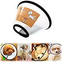 E-Fly 犬用 エリザベスカラー フェザーカラー 軽い ペット用品 介護用 手術、皮膚病、怪我などの傷舐め防止に (S)