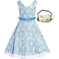 Bow Dream Lovely Lace V-Neck Flower Girl Dress