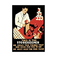 Vintage Ad Health Food Store Hygiene USA Wall Art Print ビンテージ健康フードアメリカ合衆国壁