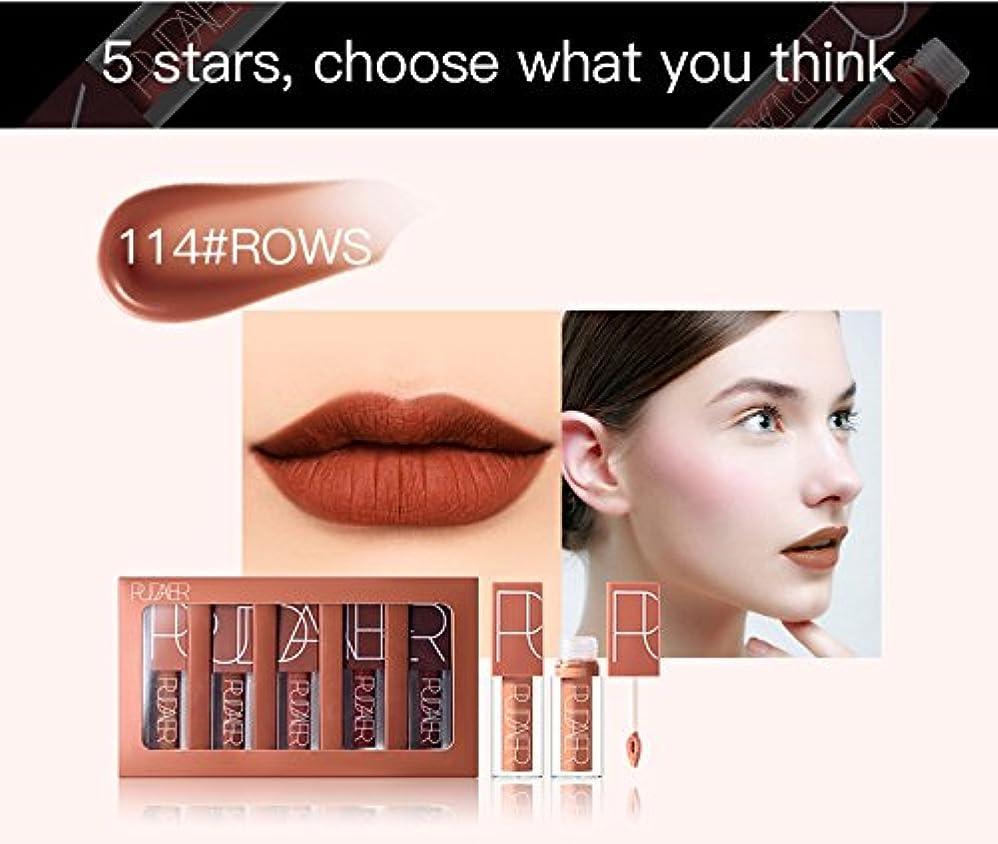 試してみる聡明刺繍No #114 Hot Brand Long Lasting Velvet Lips Tint Liquid Lipstick Matte Beauty Cosmetics Sexy Nude Pigment Matte...