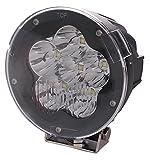 【lightronic】5インチ 狭角 60W LED サーチライト フォグランプ 車外灯 作業灯 ワークライト 投光器 野外照明 4WD バギー クロカン トラック汎用 DC12v24v兼用 IP67防水 6500K白光 CREEチップ カバー付き 広い視界 遠い視程 13ヶ月保証