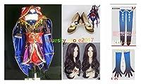 「ノーブランド品」Fate/Grand Order レオナルド・ダ・ヴィンチ コスプレ衣装+ウィッグ+靴+手袋+靴下
