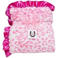 Max Daniel Baby Throw Blanket, Hot Pink Jaguar by Max Daniel Designs