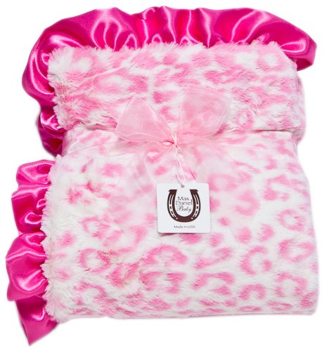 Max Daniel Baby Throw Blanket, Hot Pink Jaguar by Max Daniel Designs
