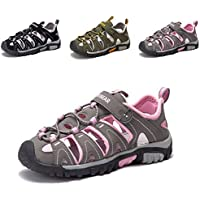 JACKSHIBO Girls Boys Summer Beach Breathable Athletic Closed-Toe Sandals Kids(Toddler/Little Kid/Big Kid)
