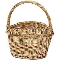 縁編みがかわいいワンハンドルバスケットSサイズ