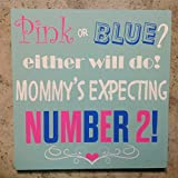 Birth Announcement Pink Or Blue Baby Notification Sign Baby Shower Wall Decor Gifts for Expectant Mother Expectant Announcement