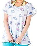 ICEPARDAL(アイスパーダル) レディース ラッシュガード オーバー Aシャツ UVカット UPF50+ IR-7900 KISS-WHT WLサイズ Tシャツ ティーシャツ カバーアップ 水着 みずぎ 体型カバー