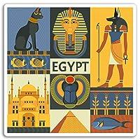 2×10センチメートルエジプトビニールステッカー - カイロエジプトの楽しい旅行ステッカー荷物の#17613(10センチメートルワイド)
