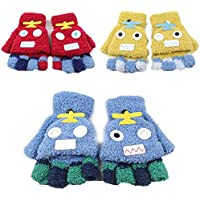 Super Warm Boy Girl Winter Mittens Gloves, Multi-Layer and Multi-Pattern Choices