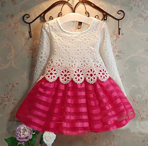 (ネッグ) NEG フォーマル ドレス ワンピース トップス 総 レース ピンク スカート プリンセス 女の子 ガールズ 子供 キッズ (120)