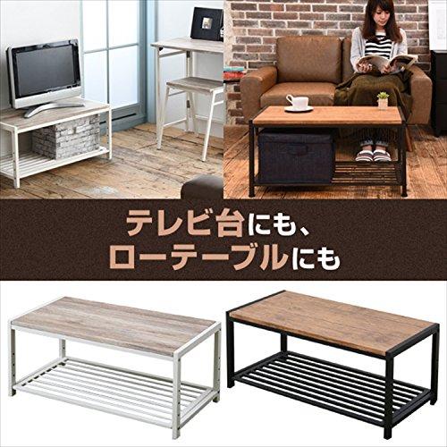 山善(YAMAZEN) テレビ台 ローボード 幅80 アイボリー/ホワイト アンティーク調 FAT-8040(AIV/WH)
