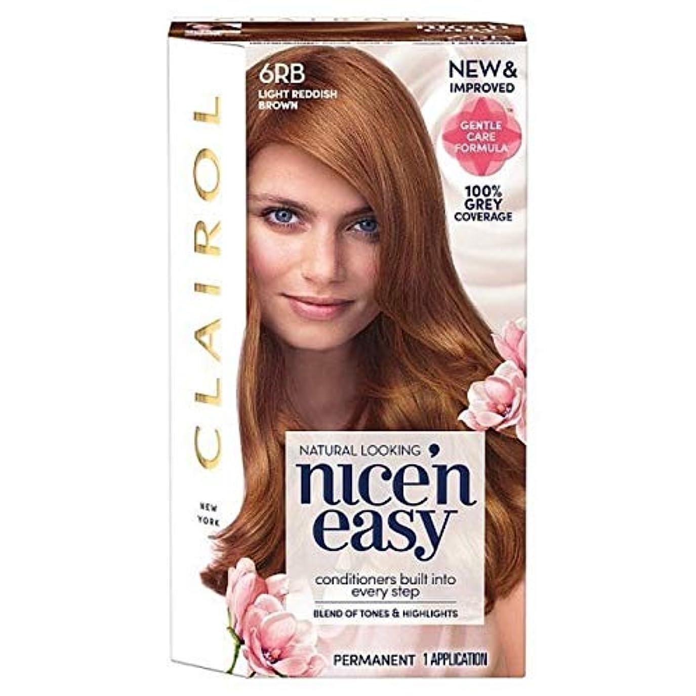 申込みティッシュバリケード[Nice'n Easy] 簡単6Rb光赤褐色Nice'N - Nice'n Easy 6Rb Light Reddish Brown [並行輸入品]