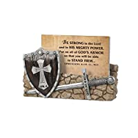 """Lighthouse Christian Products Word of God Armor of Godwit 30 Cards Scripture Card Holder, 3 1/2 x 4 1/2 x 1"""" [並行輸入品]"""